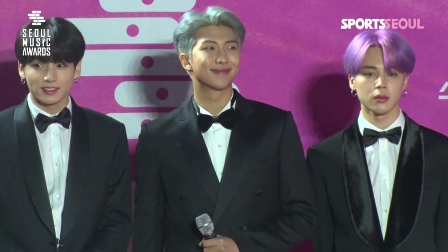 방탄소년단(BTS), 아미들의 뜨거운 응원 '역시 월클 스타' ('제28회 서울가요대상 레드카펫')