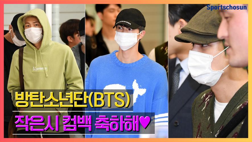 방탄소년단(BTS), '작은시 컴백 축하해💜' (190415 Incheon Airport)