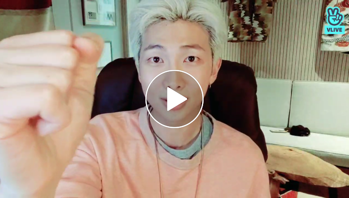 V LIVE - RM - MAP OF THE SOUL : PERSONA Behind