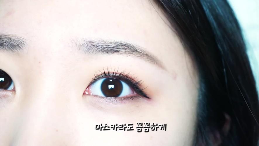 [1분팁]강아지상 아이라인 그리는 법 섀도우부터 잘 해야 자연스러워The eye shadow must look natural to create a puppy-like eyeline