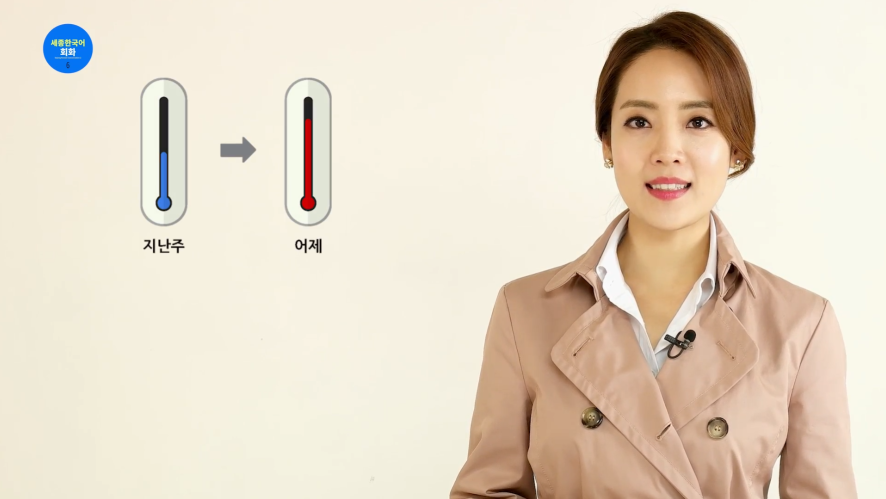 [Korean in Dramas-basic2]Lesson#6. Learn expressions related to weather & climate(Sejong Hakdang)