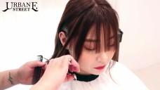 [1분팁]시스루뱅 앞머리 자르는법 광대 작아보이는 헤어스타일 How to cut see-through bangs