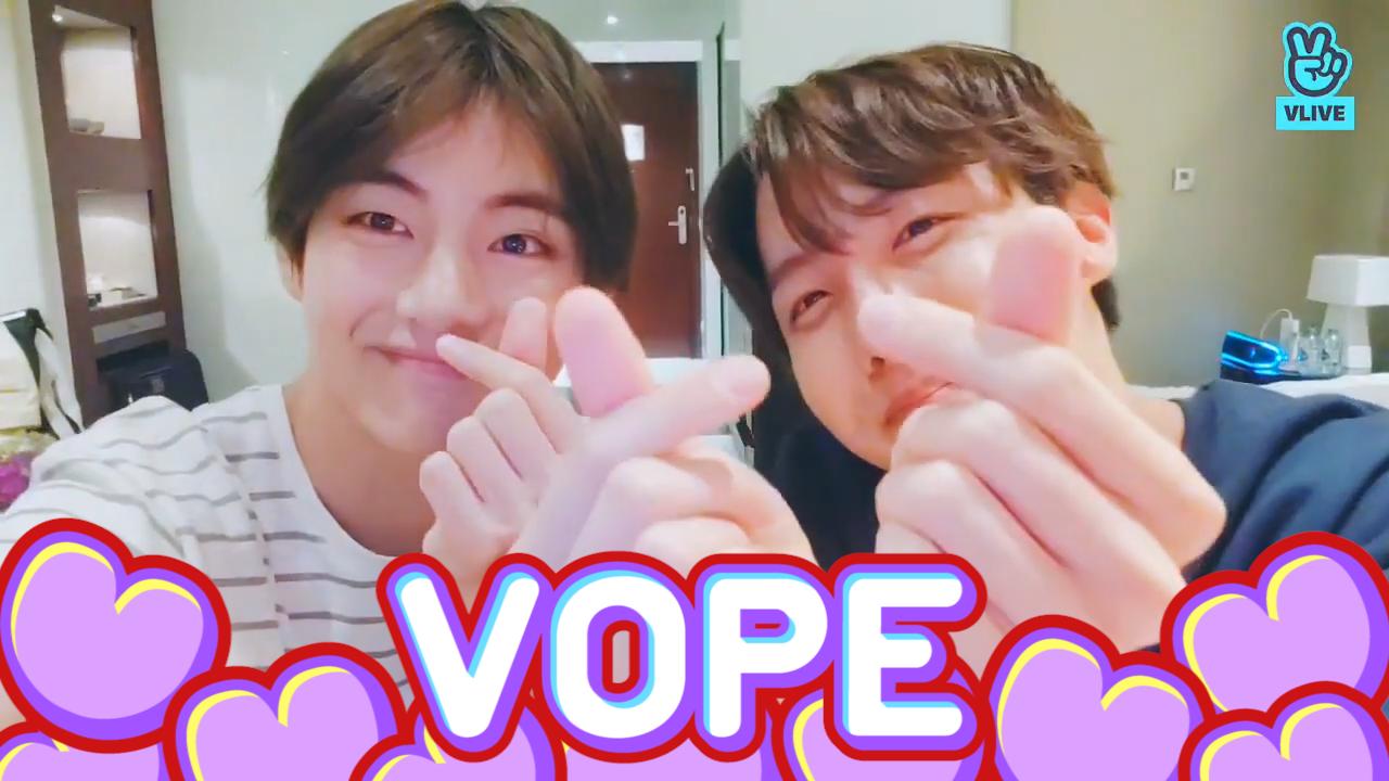 [BTS] 🐯: 형 일어났어요? 사과 먹을래요? 🐿: 쿨쿨..💤(J-Hope&V talking about VOPE episode)