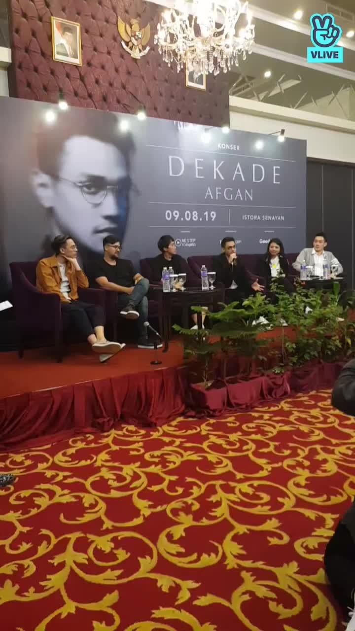 Suasana Press Conference Afgan Dekade 2019