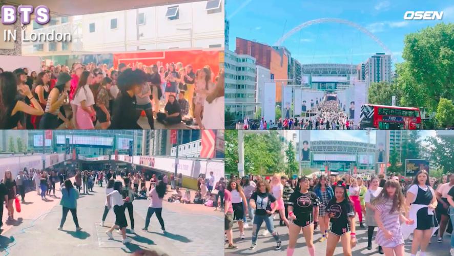 BTS 방탄소년단, 유럽 아미들의 사랑(웸블리 스케치)