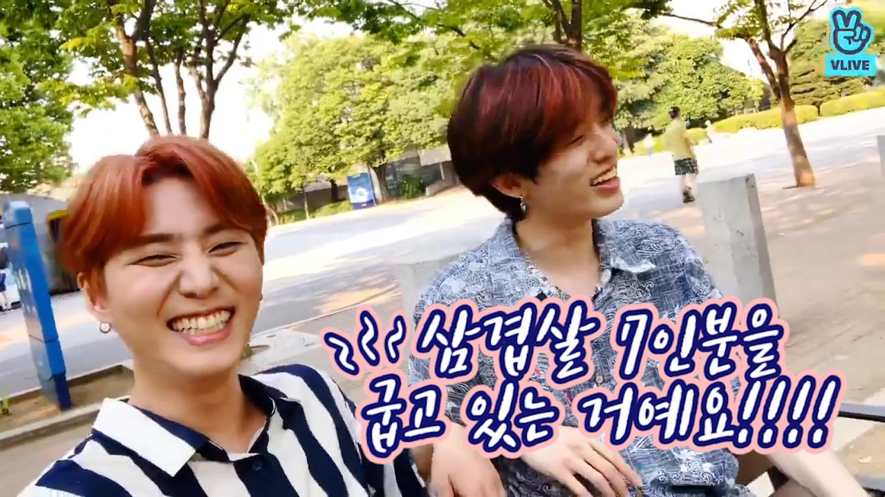 [DAY6] 새벽 다섯시의 삼겹살 7인분,, 일단 다이나믹하게 돌리고~ 돌리고~(੭ ᐕ)੭*⁾⁾🥩(Jae&Young K's pork belly episode)