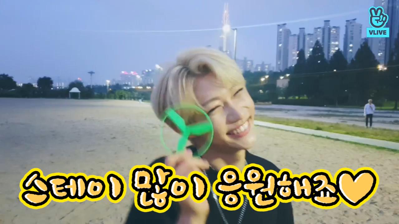 [Stray Kids] 여기 라차막내들 말랑순딩뽀둥함에 지구푸딩화 현상이 일어나고있다는데요!!!! (Stray Kids's V in Han River)