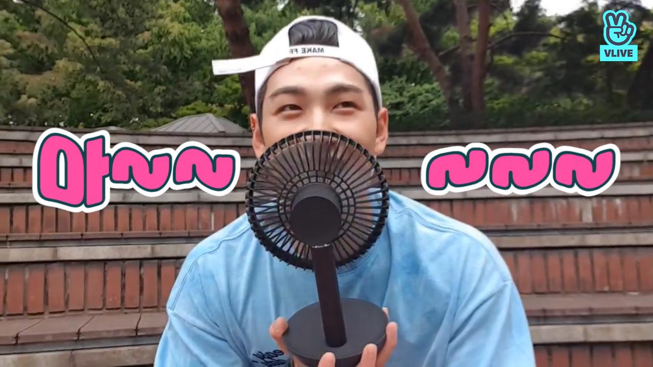 [NU'EST] 🐯강장꾸 큐티력에 헤드뱅잉 하는 나때문에 우리집 선풍기 실직🌬 (Baekho playing badminton and eating Bingsu&Chicken)
