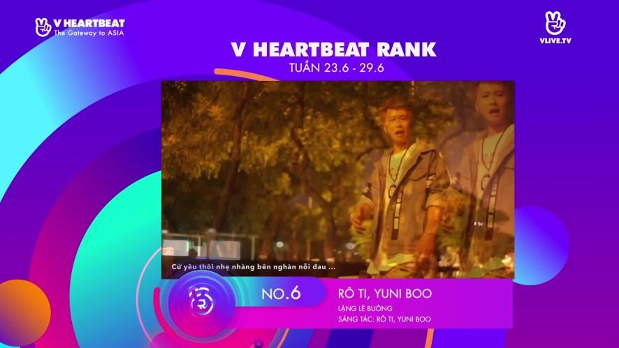 TOP 10.V HEARTBEAT Rank tuần 23.06 ~ 29.06