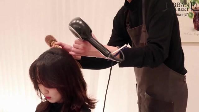 [1분팁]C컬말리는방법 중간머리 C컬드라이 고급스러워! How to create classy C-curls