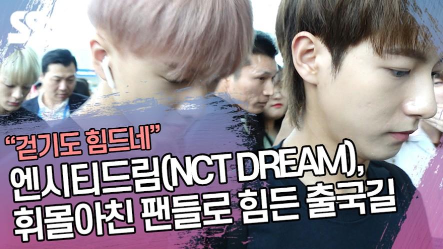 엔시티드림(NCT DREAM), 휘몰아친 팬들로 힘든 출국길 (인천공항)