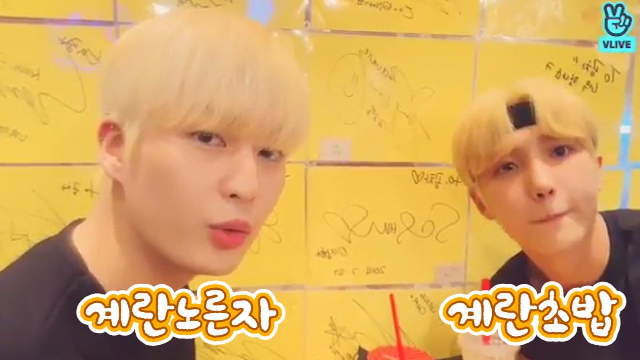 [UP10TION] 전 우주인의 행복지킴이 웃음전도사 계란초밥과 계란노른자🍳 💕(Kogyeol&Sunyoul talking about their hair color)