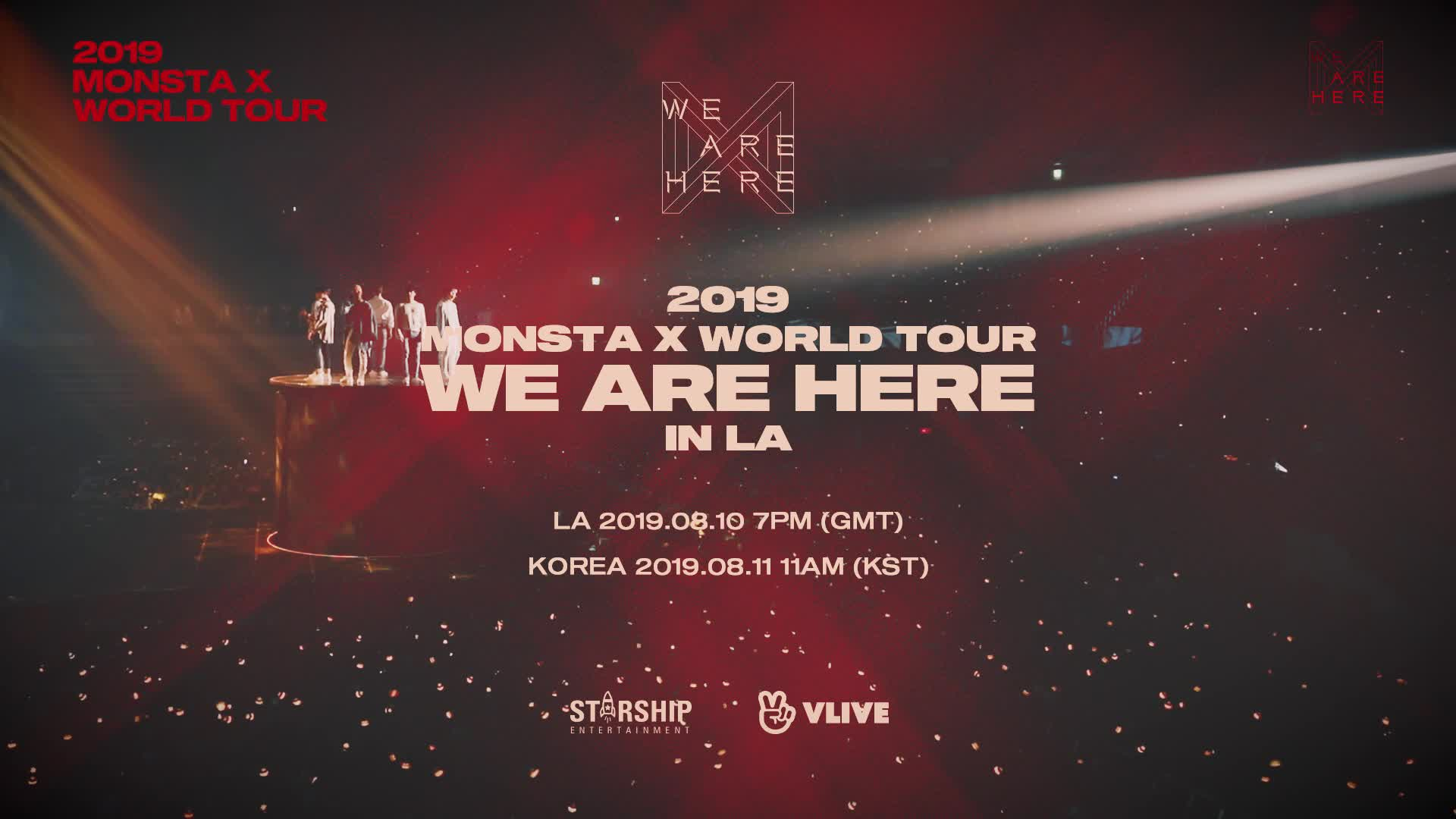 2019 MONSTA X WORLD TOUR <WE ARE HERE> IN LA VLIVE+ TEASER