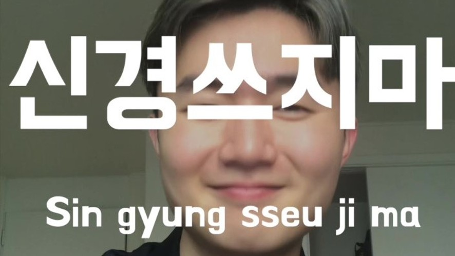 Ryan's Basic Korean Expression : nevermind, not your business