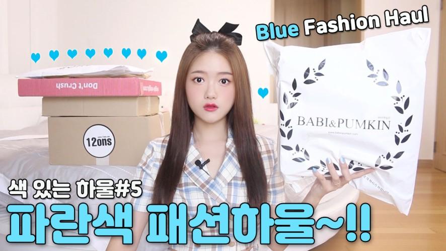 색 있는 하울#5 파란색 패션하울~!!👕💙