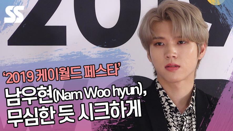 남우현(Nam Woo hyun), 무심한 듯 시크하게 ('2019 케이월드 페스타' 레드카펫)
