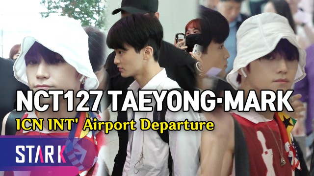 NCT127 태용·마크, '잘생김 묻었다' (NCT127 Taeyong&Mark, 20190826_ICN INT' Airport Departure)