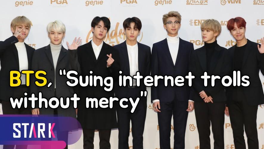 "BTS, ""Suing internet trolls without mercy or settlements"" (방탄소년단, 악플러 고소 '선처-합의 없을 예정')"