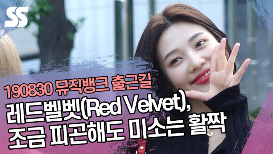 레드벨벳(Red Velvet), 조금 피곤해도 미소는 활짝 (뮤직뱅크 출근길)