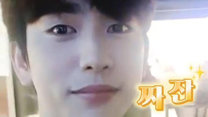 [GOT7] Hey Guys! 여기 내 미래보다 뚜렷한 녕긔탱긔 이목구비가 짜잔~✨ (Jinyoung talking about his exhibition)