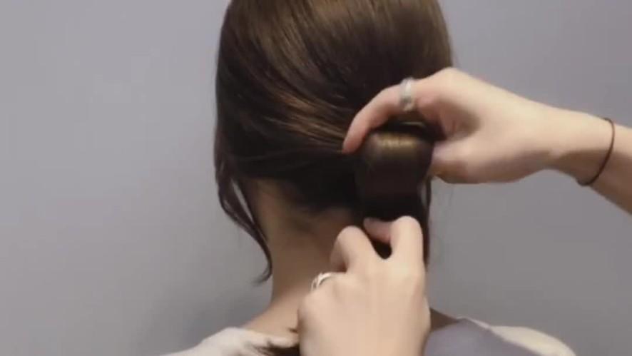 [1분팁] 추석에 머리 예쁘게 묶는 방법 (셀프헤어)