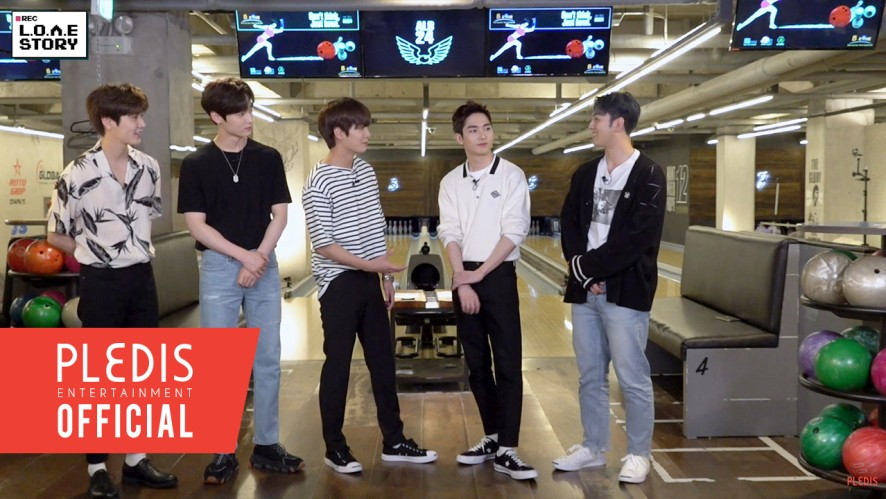 [NU'EST] L.O.Λ.E STORY EP.11 NU'EST's roudy bowling competition!