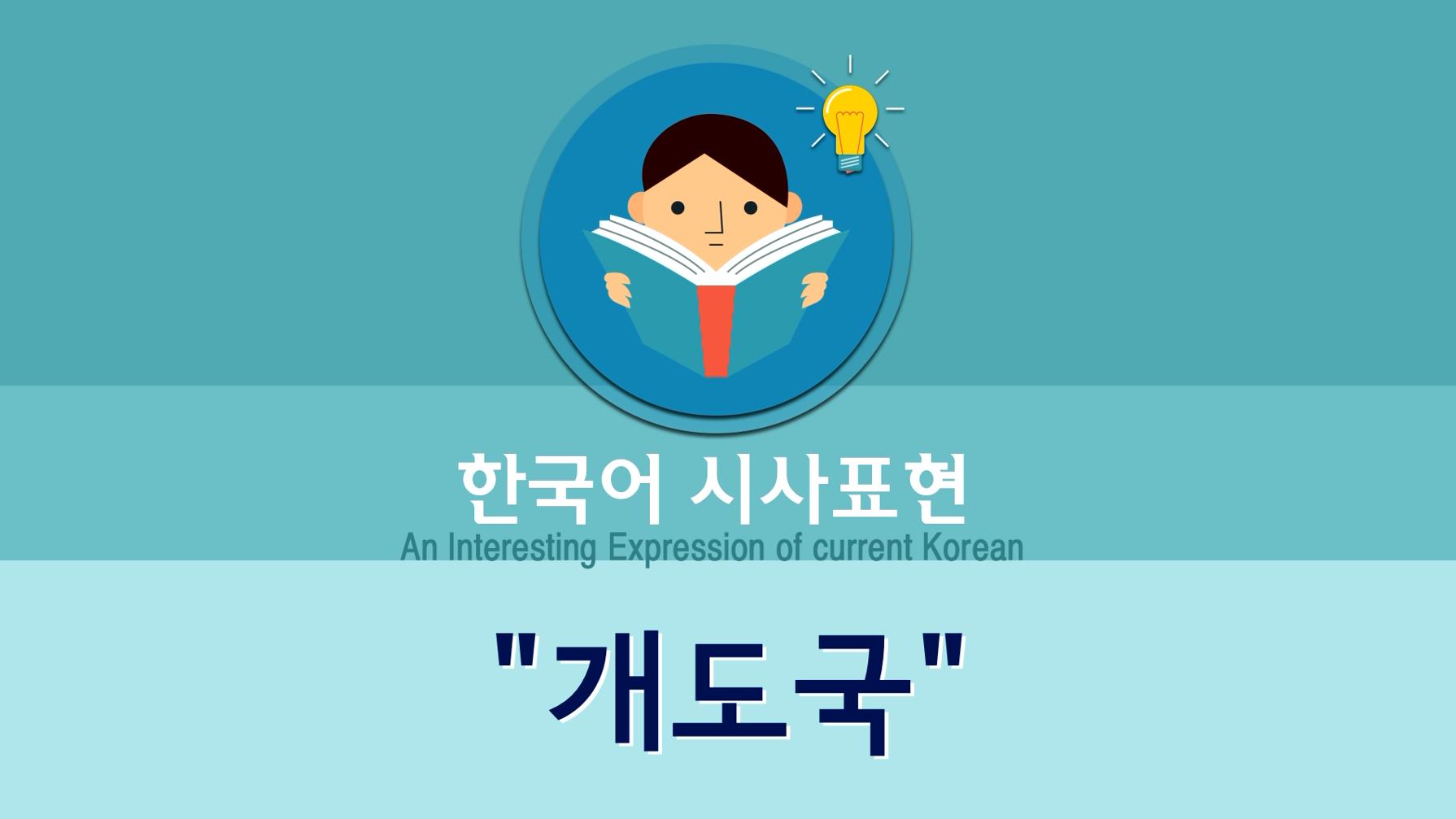 """[韩语时事表达]#20. 개도국(道上国):""""发展中国家""""的简称"""