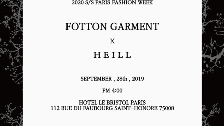 HEILL X Fottongarment 2020 S/S Paris Fashionweek