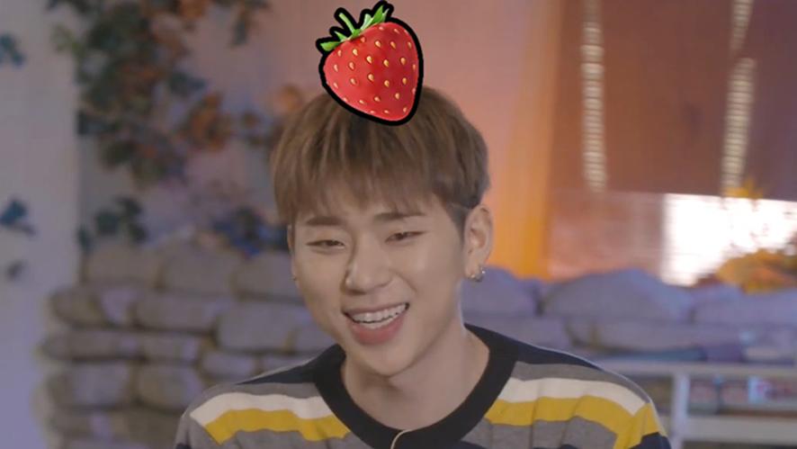 [ZICO] 딸기꼭지코 탄생의 현장 (부제: 딸기꼭지 걘 아니야🍰) (ZICO eating strawberry cake)