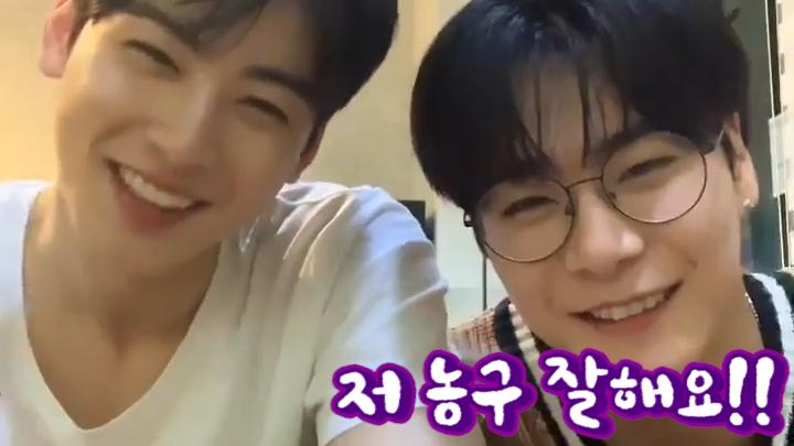 [ASTRO] 한강공원에서 농구..🏀 이 청춘영화를 칸으로..🌟 (Eunwoo&Bin talking about drama character)
