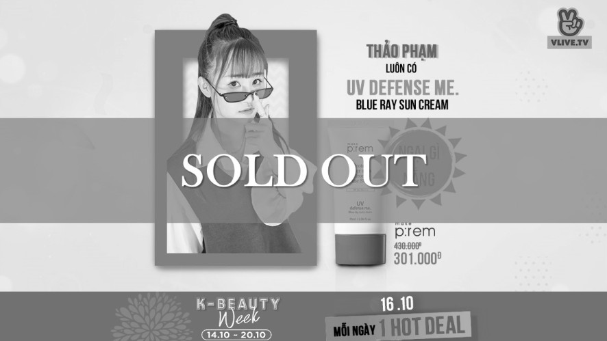 [K-BEAUTY WEEK] Make P:rem Blue ray sun cream -30%