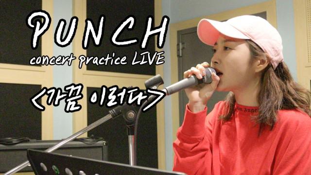 펀치 콘서트 D-3 기념! 라이브연습 엿보기(feat.가끔이러다)