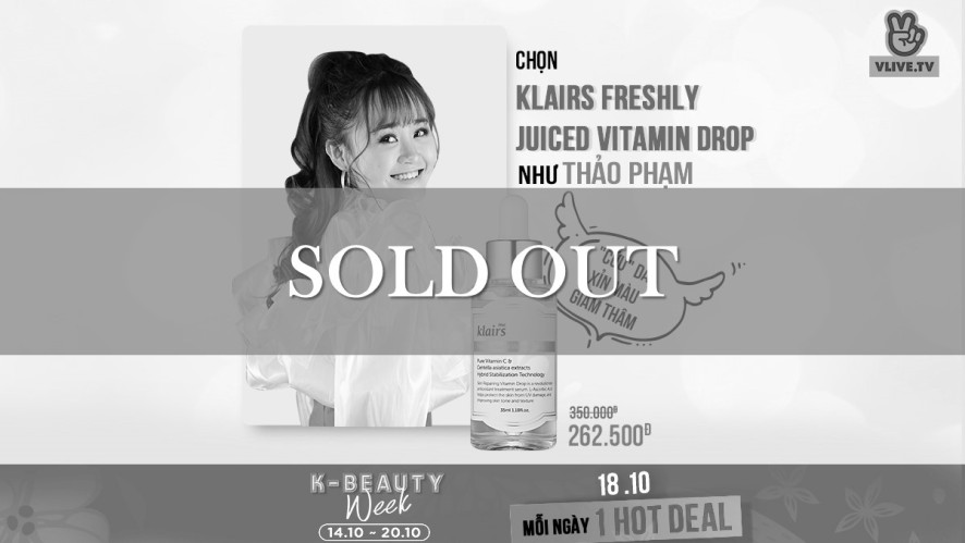 [K-BEAUTY WEEK] Klairs Freshly Juiced Vitamin Drop Serum -25%
