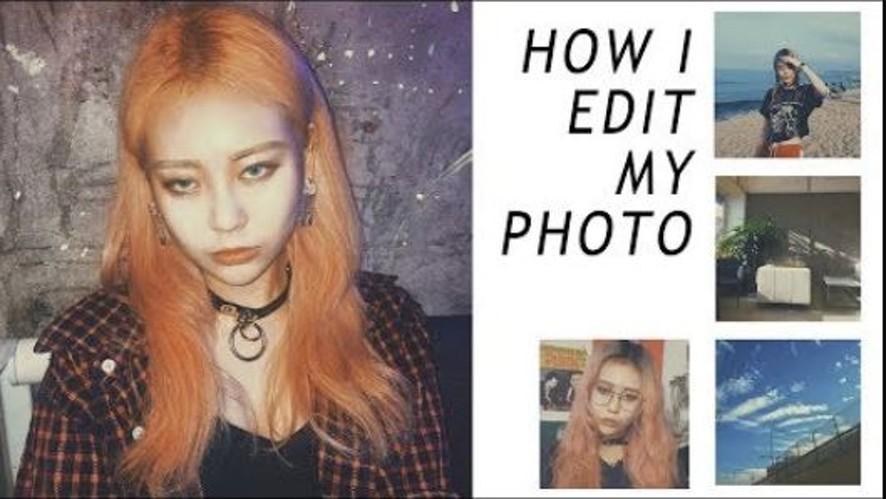 EUNBI✟  HOW I EDIT MY INSTAGRAM PHOTOS 필름카메라 구닥처럼 사진보정하는 방법 | 사진보정어플