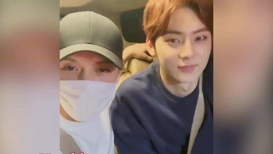 [V PICK!] Ren & Minhyun Dalam Perjalanan Ke Studio Latihan