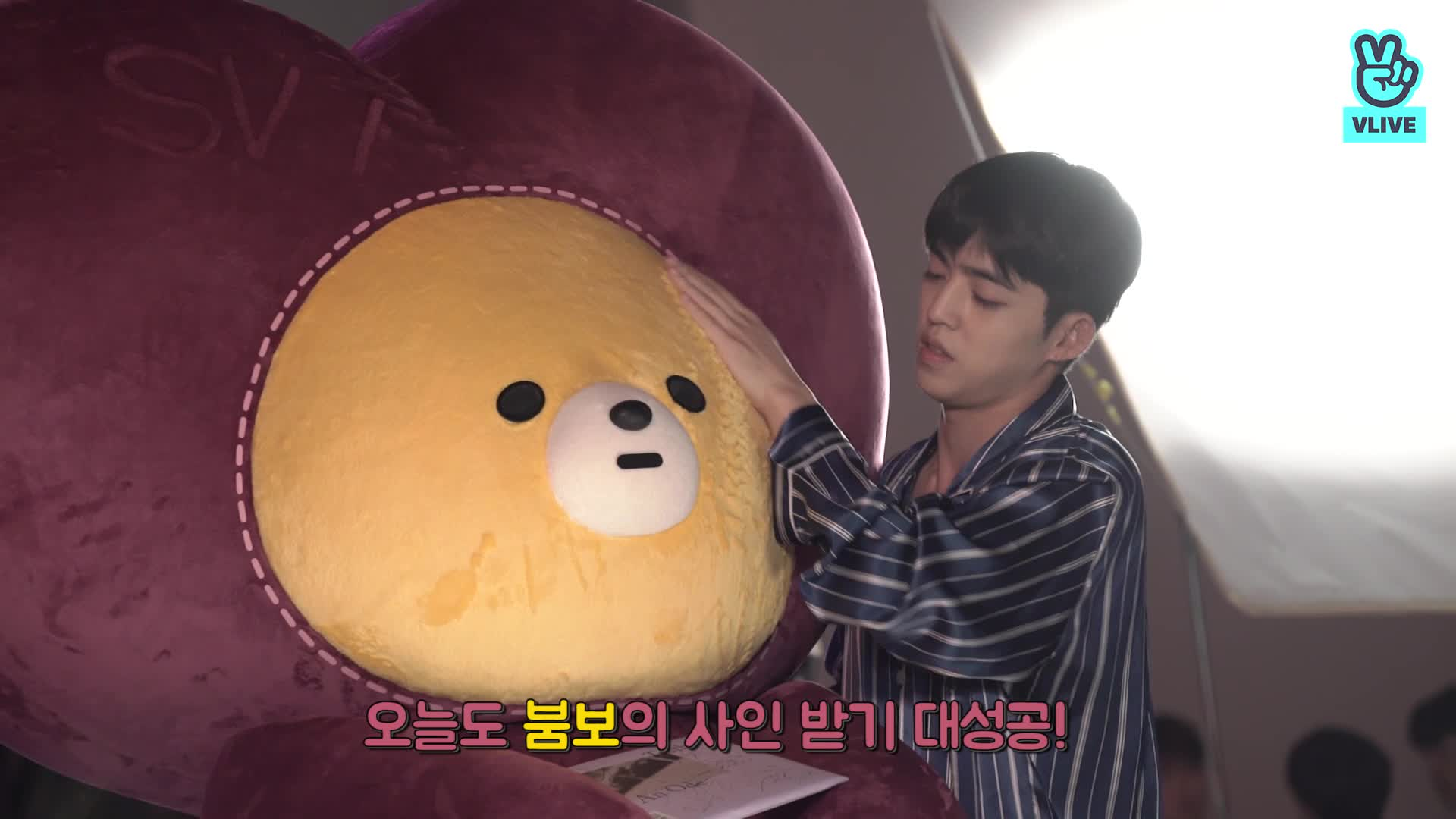 [V CREW] 붐보의 브이로그 - EP. 04 세븐틴 눕방에 찾아가 수줍게 말을 걸어 보았다 (가..가까워..! 🤯)