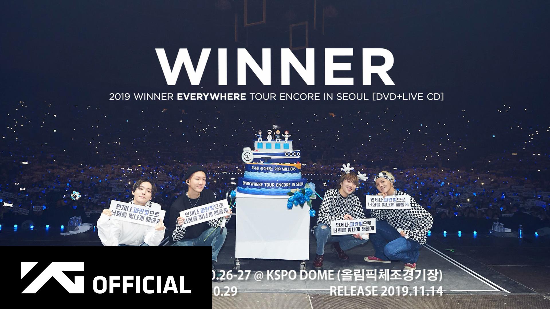WINNER - 2019 WINNER EVERYWHERE TOUR ENCORE IN SEOUL [DVD+LIVE CD] SPOT
