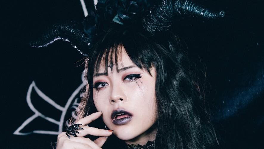 EUNBI✟EUNBI✟HALLOWEEN DEVIL MAKEUP STYLING TUTORIAL할로윈 악마 메이크업부터 스타일링, 촬영까지