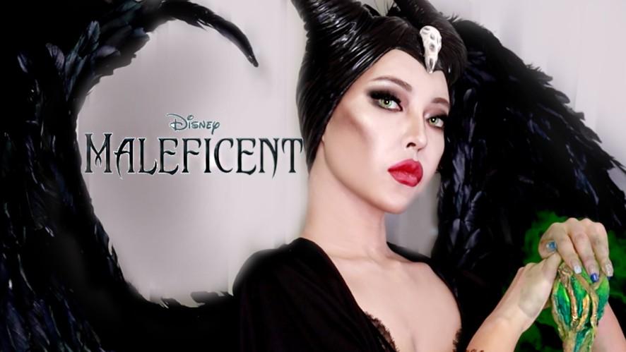 (진짜 똑같음 주의ㅎㅎ) 말레피센트 메이크업 날개 진짜입니다.. lMaleficent's makeup wings are rea