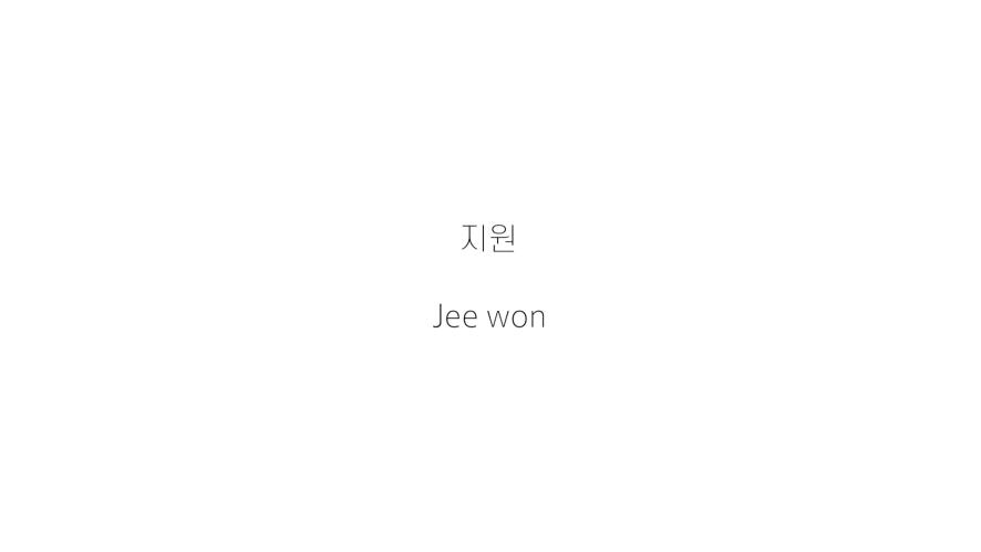 Jee won Profile Video