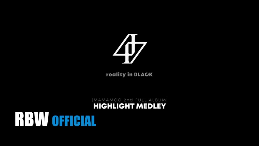 [HighLight] 'reality in BLACK' HIGHLIGHT MEDLEY