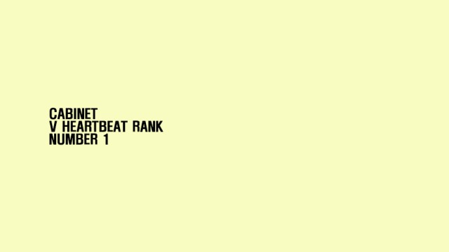 'CABINET' - V HEARTBEAT RANK, NUMBER 1