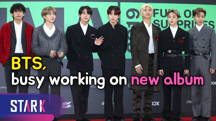 BTS, Busy working on a new album (방탄소년단, 새 앨범 기대해 주세요~)