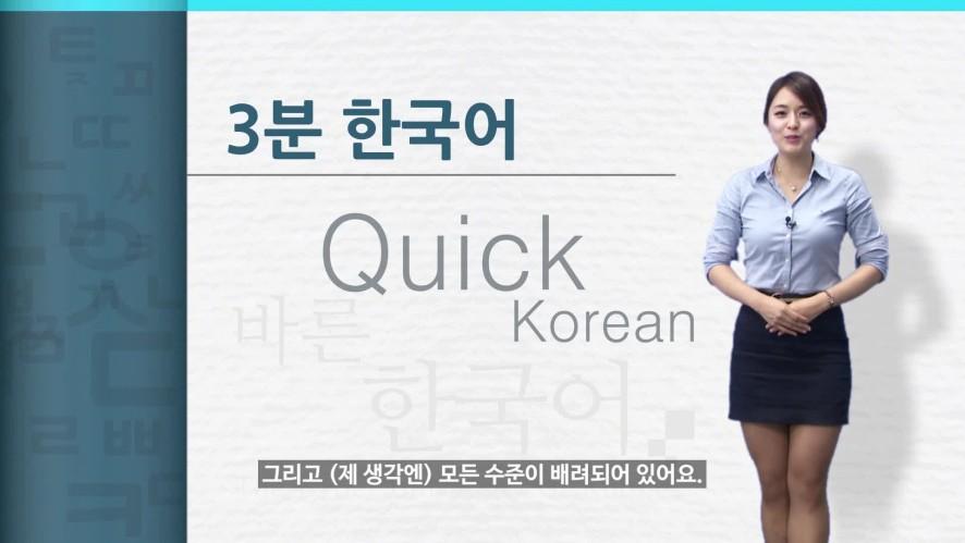 [Quick Korean] 고려사이버대학교 바른 한국어