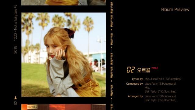 [Album Preview] 미아(Mia) 'Not a fairytale ⅔'