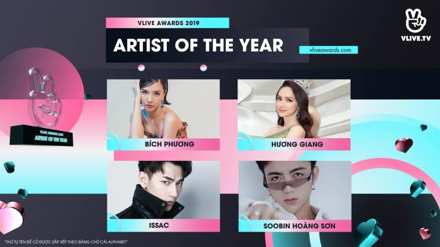VLIVE AWARDS - Bảng đề cử hạng mục ARTIST OF THE YEAR