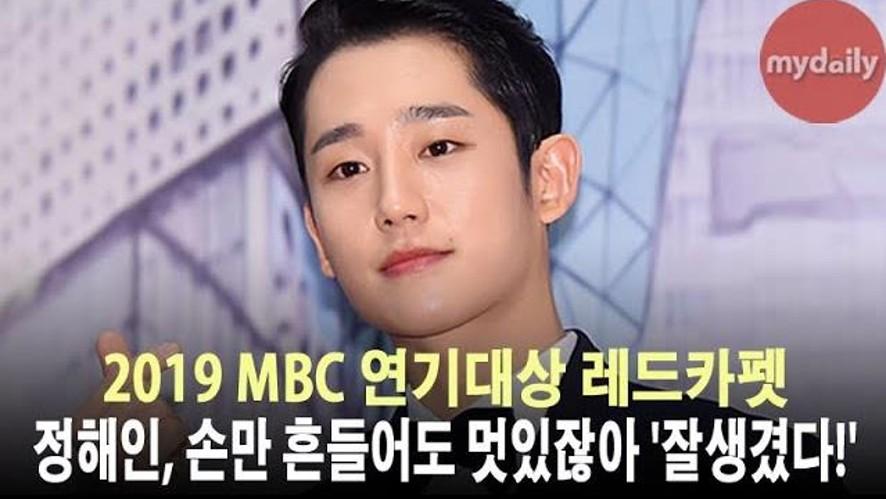 <2019 MBC연기대상> '정해인, 손만 흔들어도 멋있어'
