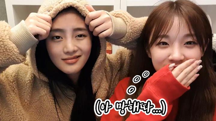 [(G)I-DLE] 본투비큐티 우기의 연말무대 비하인드🦒o0(아 망해따..!) (YUQI&MINNI talking about year-end stage behind)