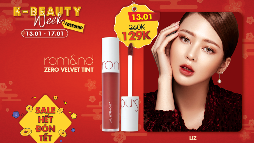 [K-BEAUTY WEEK] rom&nd Zero velvet Tint