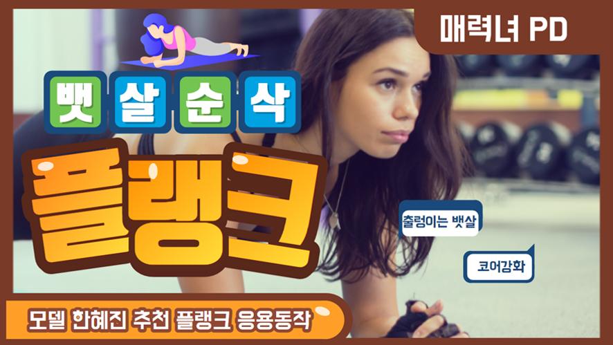 복근 뱃살운동 한혜진이 추천하는 여자 뱃살빼는 최고의 운동 플랭크응용 동작